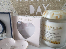 Large heart and home pearl candle - Cordelia's House of Treasures