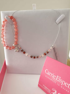 Semi precious stone necklace by Carrie Elspeth