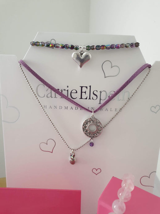Crown Chakra silver choker silver, by Carrie Elspeth - Cordelia's House of Treasures