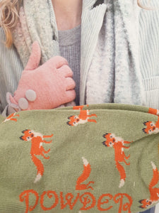 super soft bamboo socks, love foxes