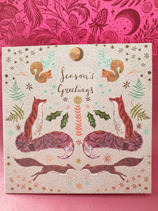 Christmas cards pheasants and foxes - Cordelia's House of Treasures
