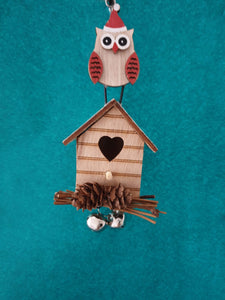 Lovely Wooden Christmas Owl Decorations - Cordelia's House of Treasures