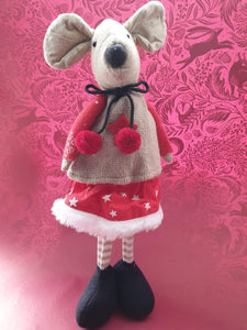 Standing and sitting Christmas Mice and Reindeer decorations. - Cordelia's House of Treasures