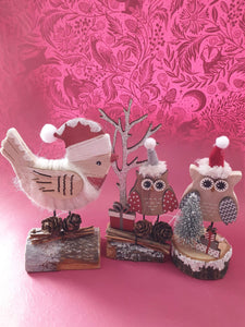 Wooden Birds Christmas Decorations - Cordelia's House of Treasures