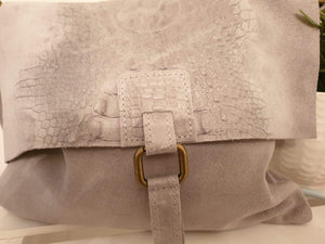 Flip over real suede shoulder bag - Cordelia's House of Treasures