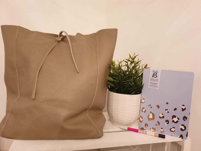 Soft leather tote - Cordelia's House of Treasures