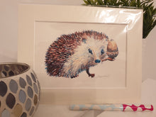 Hedgehog Mounted Print - Cordelia's House of Treasures
