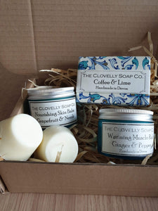 Pretty blue skincare giftbox made in Devon - Cordelia's House of Treasures