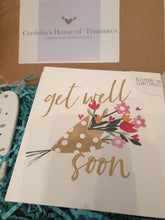Caroline Gardner get well soon card gift box