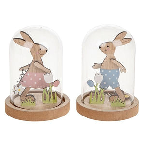 Sweet dome easter rabbit ornament - Cordelia's House of Treasures