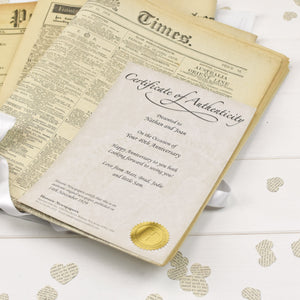 Original Newspaper Anniversary Folder - Cordelia's House of Treasures