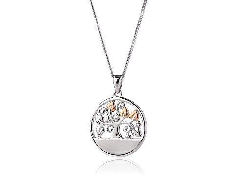 Clogau Silver And 9ct Rose Gold Tree Of Life Necklace Chain Pendant Jewelry Lady