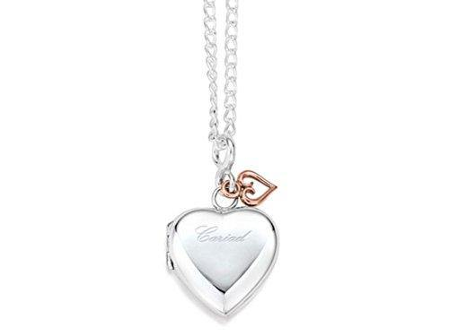 Clogau Womens Jewellery 9Ct Rare Welsh Rose Gold & Silver Heart Locket & Chain