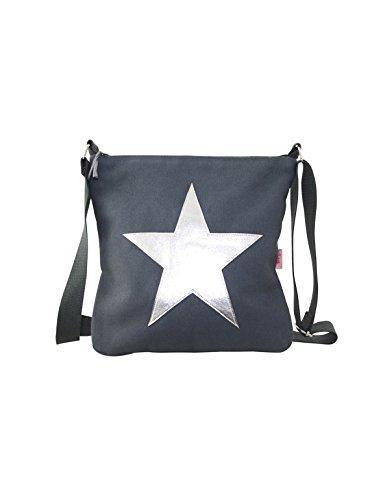 Grey Silver Star Shoulder Bag - Cordelia's House of Treasures