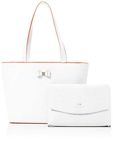 Ted Baker Women's Bow Detail Shopper, Ivory, One Size - Cordelia's House of Treasures