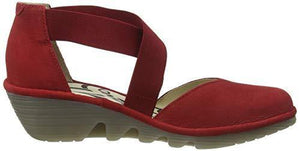 Fly London Women PACO147FLY Closed Toe Sandals, Red (Lipstick Red 005), 6 UK