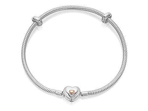 Clogau Women Jewellery Silver 9Ct Rose Gold Cariad Heart Milestones Bracelet - Cordelia's House of Treasures