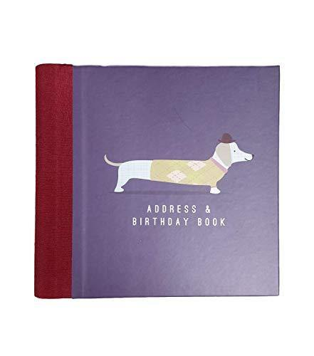The Art File Address & Birthday Book - Navy Frank Sausage Dog Design