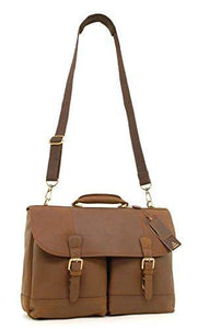 Ashwood Heavy Duty Briefcase Cross Body Bag - Laptop Bag with Padded Compartment - Business Office Work Bag - Genuine Leather - Henry - Mud Brown - Cordelia's House of Treasures
