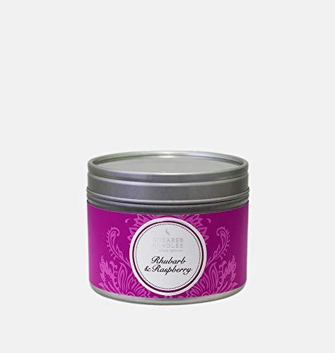SHEARER CANDLES SILVER TIN RHUBARB & RASPBERRY
