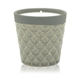 Soy candles in a decorative pot
