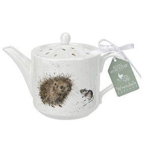 RW WN4090-XT Royal Worcester Wrendale Designs China One Pint Tea Pot-Hedgehog and Mouse, Ceramic