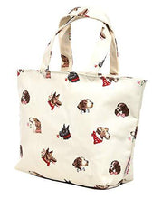 Cath Kidston Foil Insulated Lunch Tote Bag in Dog Portraits Design in Warm Cream Oilcloth