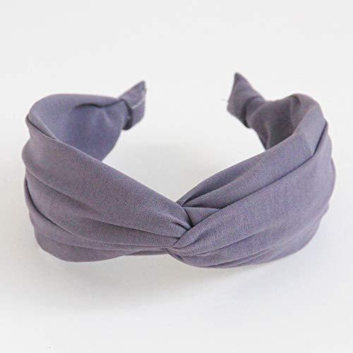 Caroline Gardner Headband - Grey Mauve Wide Hairband