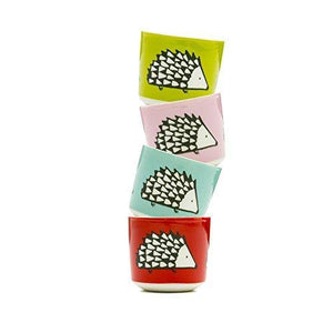 Scion 4-Piece Spike Egg Cup, Porcelain, Multi-Colour, 4.8 x 4.8 x 4.8 cm