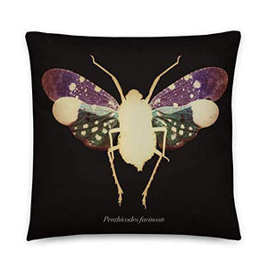 Insekten Cushion Cover, planthopper Scientific Illustartion, Modern Gothic Decor, 45cm Throw Pillow