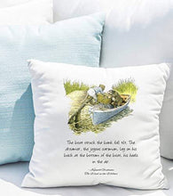 Wind in the Willows - throw pillow - Mole and Ratty