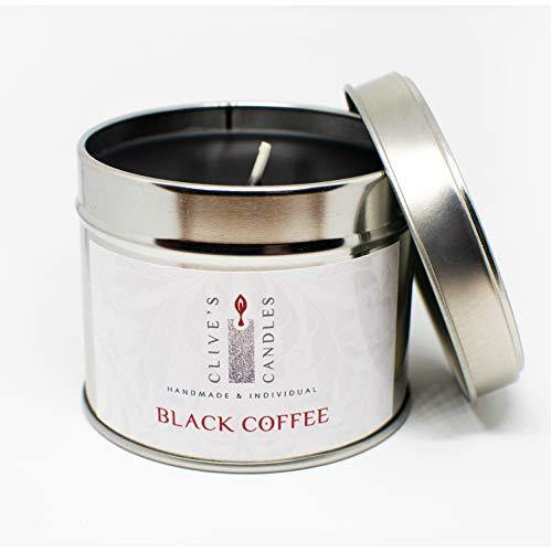 Clive's Candles, Double Espresso Black Coffee Scented Candle, 200 Grams, 40 Hours Burn time