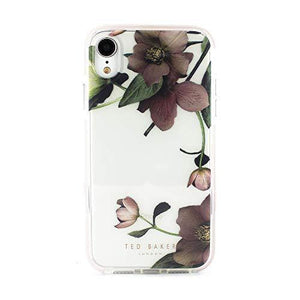 Ted Baker Anti Shock Case for iPhone XR Drop Tested Impact Protection, Transparent - Arboretum,White - Cordelia's House of Treasures