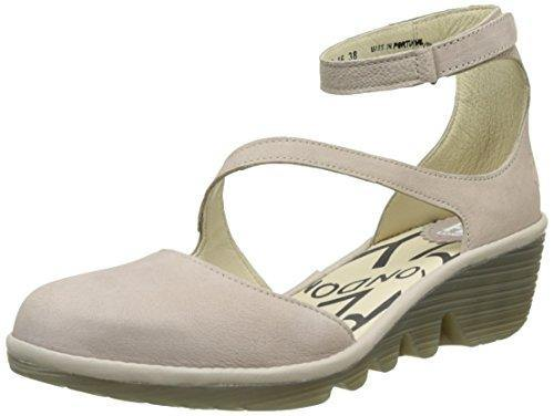 Fly London PLAN717FLY, Women Ankle Strap Pumps & Heels, Grey (concrete/concrete 015), 6 UK (39 EU)