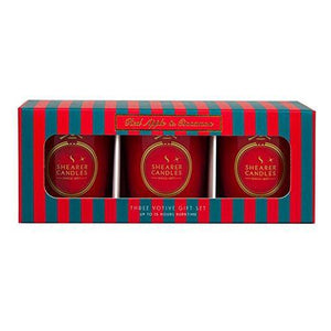 Shearer Candles Red Apple and Cinnamon Christmas Votive Candle Set, 5.7 x 17.4 x 6.7 cm