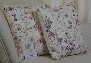 "Cushion using Prestigious Marie Thistle Fabric 16"" x 16"" (41cm x 41cm) including Inner Hollowfibre Pad - Cordelia's House of Treasures"