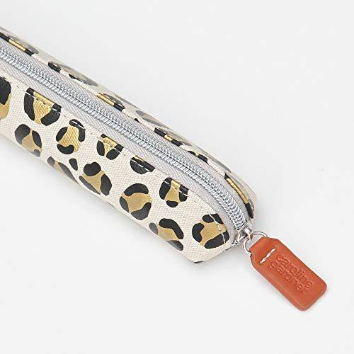 Caroline Gardner Slim Pencil Case - Leopard Pen Case
