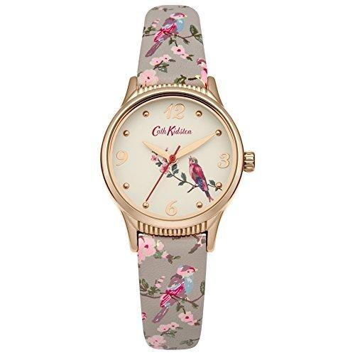 Ladies Cath Kidston British Birds Grey Strap Watch CKL013ERG - Cordelia's House of Treasures