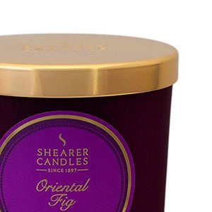 Shearer Candles Oriental Fig Scented Jar Candle with Gold Lid - Purple