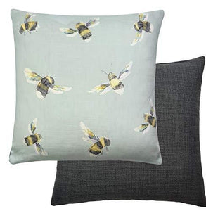 Designer Voyage Maison Lorient Decor Duck Egg Blue Bees Reversible Cushion Cover - Cordelia's House of Treasures