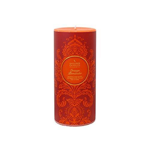 Shearer Candles Orange Pomander Scented 6 inch Pillar Candle - Orange - Cordelia's House of Treasures