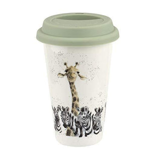 Wrendale Designs Giraffe & Zebra Travel Mug - Cordelia's House of Treasures