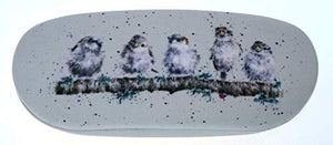 Wrendale Designs Hard Shell Glasses Specs Case with Cleaning Cloth Sparrow Bird