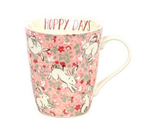 Cath Kidston China Stanley Jumping Bunnies Mug 400ml in Light Pink - Cordelia's House of Treasures