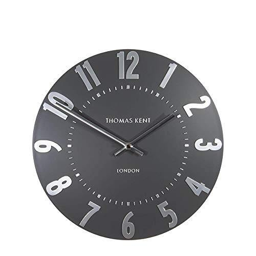 Thomas Kent Mulberry Wall Clock in Graphite Silver 12