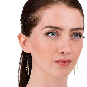 Scream Pretty - Sterling Silver Horn Threader Dangle Earrings