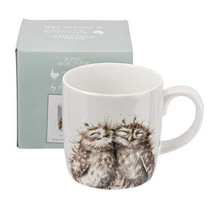 Portmeirion Home & Gifts Wrendale The Twits (Owl) Single Mug, Bone China, Multi-Colour, 9.2 x 12.5 x 9.3 cm - Cordelia's House of Treasures