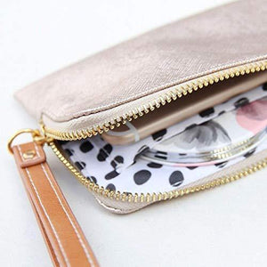 Caroline Gardner Rose Gold Tinted Metallic Purse