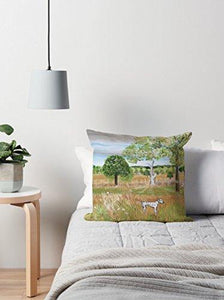 Hand Designed Cushion Featuring The Original Painting By Sally Anne Wake Jones - Cordelia's House of Treasures