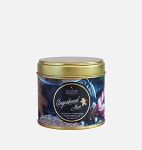 Shearer Candles Gingerbread Man Large Scented Gold Tin Candle - Cordelia's House of Treasures